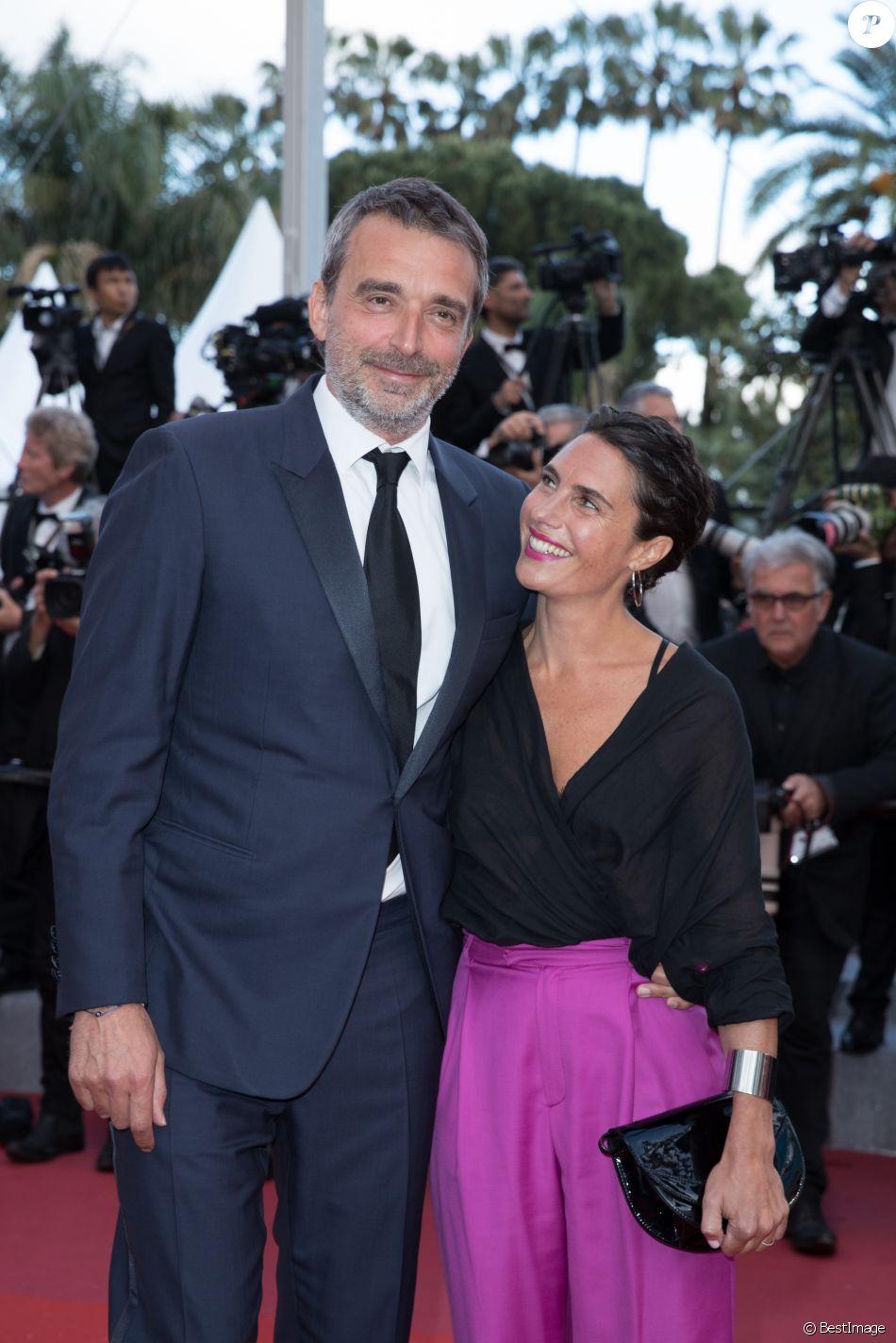 """Alessandra Sublet et son mari Clément Miserez - Montée des marches du film """"Le Grand Bain"""" lors du 71e Festival International du Film de Cannes. Le 13 mai 2018 © Borde-Jacovides-Moreau/Bestimage"""
