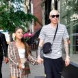 Ariana Grande et Pete Davidson à New York, le 16 juillet 2018