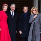 Brigitte et Emmanuel Macron : Accueil royal et avec les honneurs à Bruxelles