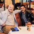 Exclusif - Marc Ladreit de Lacharrière a déjeuné avec Jamel Debbouze à l'occasion de l'ouverture du nouveau restaurant Costes du théâtre Marigny à Paris. Le 16 novembre 2018 © Cyril Moreau / Bestimage