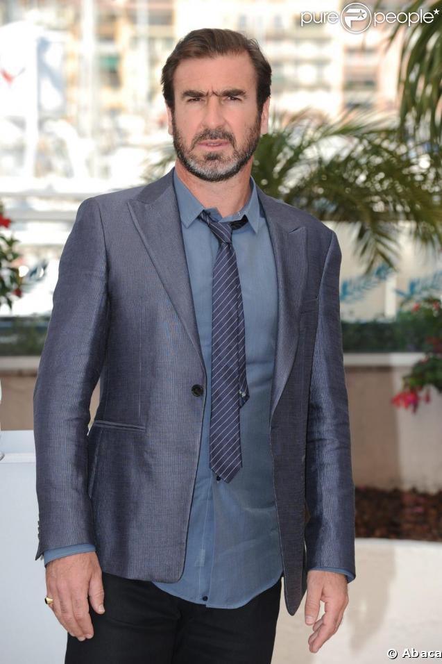 "Eric Cantona lors du photocall de ""Looking for Eric"", à Cannes, le 18 mai 2009 !"