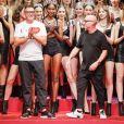 """Les stylistes Stefano Gabbana et Domenico Dolce - Défilé de mode printemps-été 2018 """"Dolce & Gabbana"""" lors de la fashion week de Milan. Le 24 septembre 2017."""