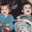 Kristin Cavallari et son frère Michael enfants / photo postée sur le compte Instagram de l'actrice au mois de décembre 2015.