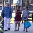 Nick Nolte, sa femme Clytie Lane et leur fille Sophia sont allés faire des courses au Trancas Market à Malibu, le 26 août 2018.