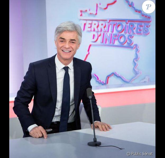 """Cyril Viguier anime l'émission """"Territoires d'Infos"""", la matinale de Public Sénat, depuis quatre saisons (ici en 2018)."""