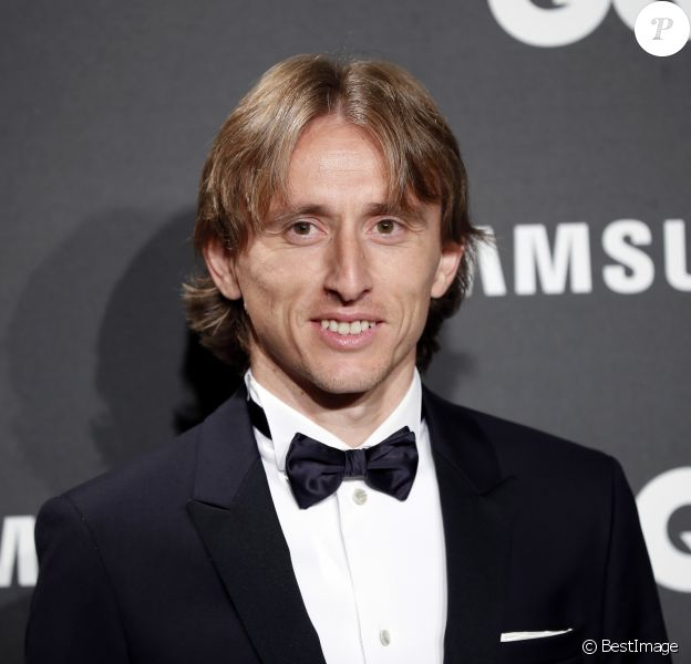 "Luka Modric au photocall de la soirée des ""GQ Awards Men of the Year"" à Madrid, le 22 novembre 2018."