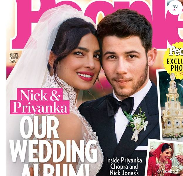 Les jeunes mariés Priyanka Chopra et Nick Jonas en couverture du magazine People.