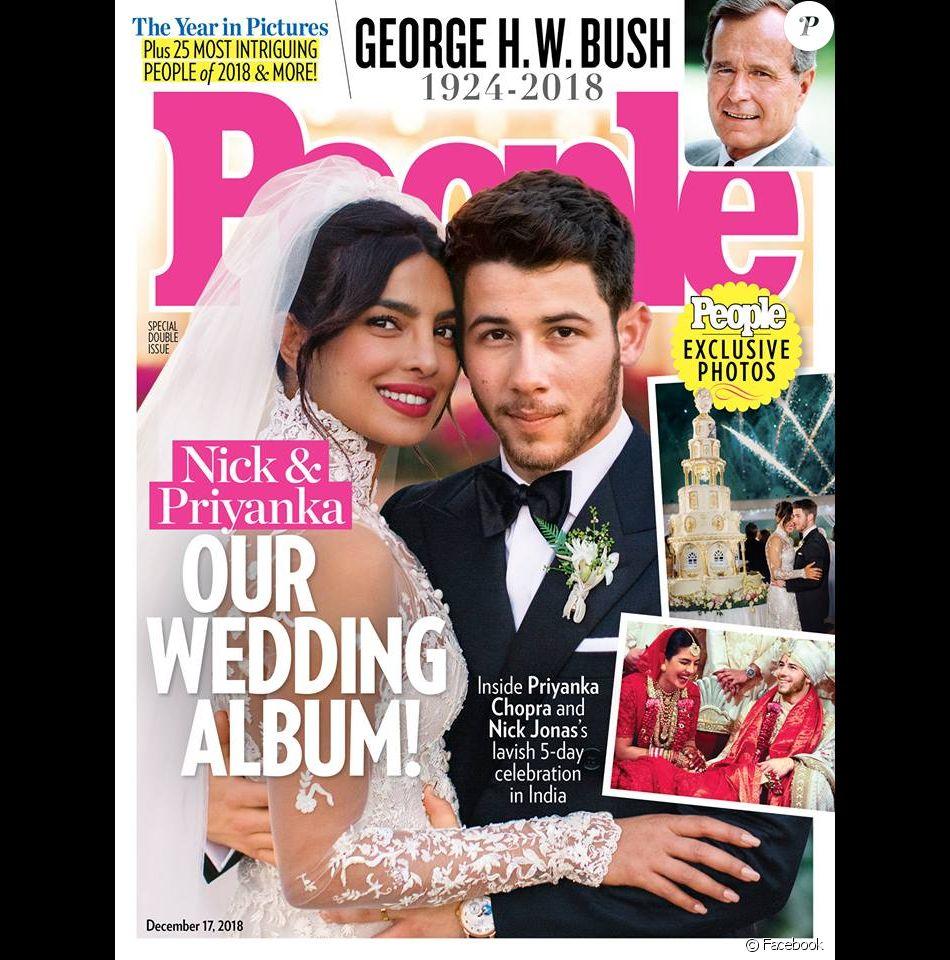 Les jeunes mariés Priyanka Chopra et Nick Jonas en couverture du magazine  People .