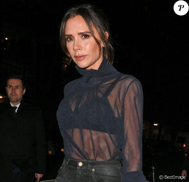 """Victoria Beckham - Arrivées à la soirée """"Haig Club House Party"""" au Laylow Club à Londres. Le 3 décembre 2018."""