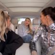 """Hailey Bieber, Miley Cyrus et Kendall Jenner dans """"Carpool Karaoke"""", épisode diffusé le 7 décembre 2018"""