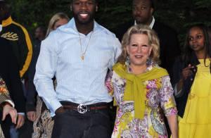 50 Cent : le gangsta-rappeur américain transformé en agneau par la... grande chanteuse Bette Midler !