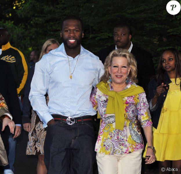 Curtis Jackson surnommé 50 Cent et Bette Midler au 8e pique-nique annuel du ''Restoration Project'' de Bette Midler à New York le 19 mai 2009