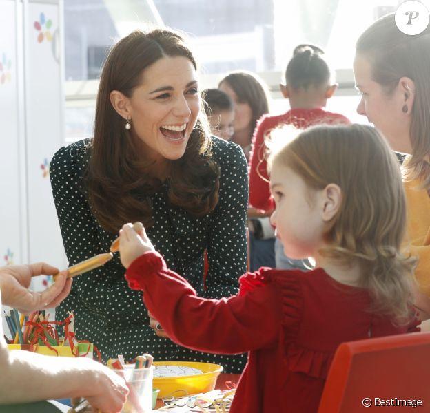 Le prince William, duc de Cambridge, et Kate Middleton, duchesse de Cambridge, visitent l'hôpital pour enfants Evelina à Londres, Royaume Uni, le 11 décembre 2018.