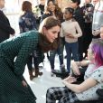 Le prince William, duc de Cambridge, et Kate Middleton, duchesse de Cambridge, visitent l'hôpital pour enfants Evelina à Londres, Royaume Uni, le 11 décembre 2018.