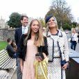 Kate Moss et sa fille Lila Grace Moss quittent le château de Windsor après le mariage de la princesse Eugénie d'York et Jack Brooksbank le 12 octobre 2018