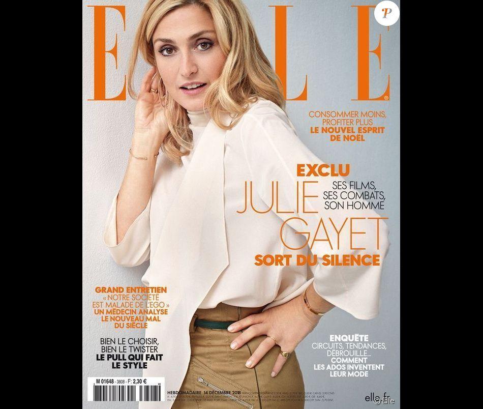 """Julie Gayet en couverture du magazine """"ELLE"""", sortie le 14 décembre 2018"""