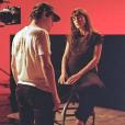 Juliette Armanet, enceinte, sur le tournage d'un clip. Le 13 décembre 2018. Photo de @andreamontanooo.