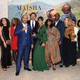 """Exclusif - Sonia Roland avec son équipe, Jean-Claude Rugera (coordinateur Rwanda de l'association Maïsha Africa), Monique Blachère (coordinatrice Paris de l'association Maïsha Africa) et Sylvie Mougin (trésorière de l'association Maïsha Africa), Amanda Herzber - Dîner de gala au profit de l'association """"Maïsha Africa"""" de Sonia Rolland, qui vient en aide aux enfants du Rwanda, au Pavillon Gabriel, à Paris, le 17 décembre 2018. En vue de soutenir une partie du projet en faveur de la réhabilitation du service de néonatalogie de l'hôpital de Musanze au Rwanda, le gala a été organisé avec le précieux parrainage de C.Descalzi-Pereira, présidente de la Fondation Congo Kitoko, et de Céline Brucker, directrice générale de L'Oréal Grand Public France. Près de 125 000 euros de dons ont été récoltés pendant la soirée, organisée en partenariat avec la Fondation Congo Kitoko, Mixa et LVMH ainsi que la contribution du magazine Infrarouge et de la maison de Champagne Delarocque. © Gorassini-Moreau/Bestimage"""