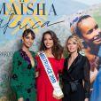 """Exclusif - Sonia Rolland (Présidente de Maïsha Africa), Vaimalama Chaves (Miss France 2019), Sylvie Tellier - Dîner de gala au profit de l'association """"Maïsha Africa"""" de Sonia Rolland, qui vient en aide aux enfants du Rwanda, au Pavillon Gabriel, à Paris, le 17 décembre 2018. En vue de soutenir une partie du projet en faveur de la réhabilitation du service de néonatalogie de l'hôpital de Musanze au Rwanda, le gala a été organisé avec le précieux parrainage de C.Descalzi-Pereira, présidente de la Fondation Congo Kitoko, et de Céline Brucker, directrice générale de L'Oréal Grand Public France. Près de 125 000 euros de dons ont été récoltés pendant la soirée, organisée en partenariat avec la Fondation Congo Kitoko, Mixa et LVMH ainsi que la contribution du magazine Infrarouge et de la maison de Champagne Delarocque. © Gorassini-Moreau/Bestimage"""