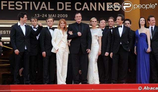 Quentin Tarantino et Mélanie Laurent lors de la montée des marches d'Inglourious Basterds, le 20 mai 2009, à Cannes !