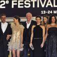 Toute l'équipe du film dont Vincent Cassel pour A Deriva sur le tapis rouge de Cannes