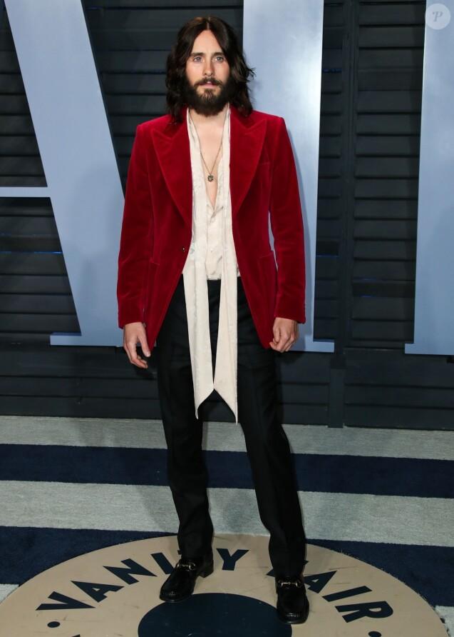 Jared Leto à la soirée Vanity Fair Oscar au Wallis Annenberg Center à Beverly Hills, le 4 mars 2018