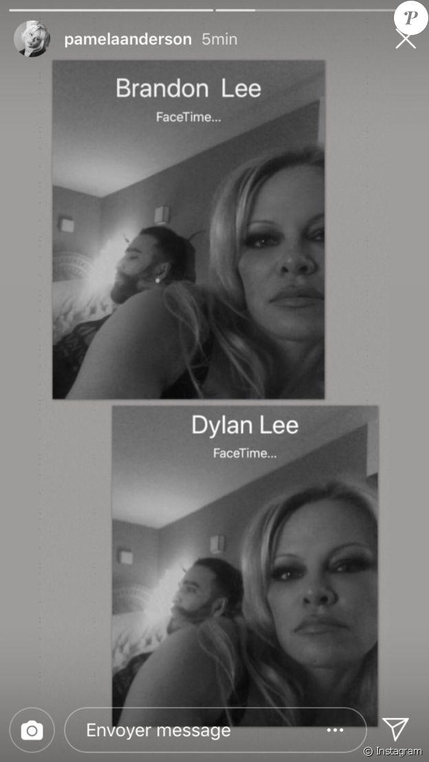 Pamela Anderson s'est affichée avec son chéri Adil Rami dans sa story Instagram le 31 décembre 2018