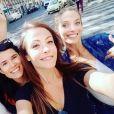 """Flavie Péan retrouve ses camarades de """"Plus belle la vie"""" (France 3) Dounia Coesens, Elodie Varlet, Charlie Nune, Léa François et Coline d'Inca."""