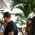Kanye West et sa femme Kim Kardashian arrivent à leur appartement de Miami le 4 janvier 2018.