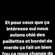 Wahiba Ribéry, la femme de Franck Ribéry, règle ses comptes sur Instagram, le 4 janvier 2019.