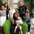 Franck Ribéry et sa femme Wahiba célèbre les 3 ans de leur fils Mohammed avec leurs autres enfants, Hizya, Shakinez, Seïf el Islam et Mohammed. Instagram, mai 2018.