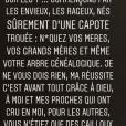 Franck Ribéry règle ses comptes sur Instagram, le 5 janvier 2019.