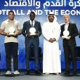 Ronaldo, Blaise Matuidi et Didier Deschamps lors de la 13e édition de la Dubai International Sports Conference le 2 janvier 2019.