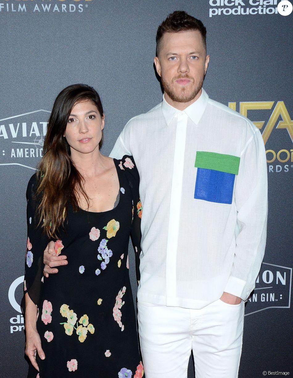 Dan Reynolds et sa femme Aja Volkman à la 22ème soirée annuelle Hollywood Film Awards à Los Angeles, le 4 novembre 2018.