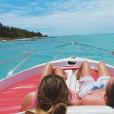 Camille Gottlieb et son ami Hugo lors de leurs vacances à l'île Maurice fin octobre - début novembre 2018, photo issue de son compte Instagram.
