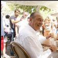 Archive - Jacques Chirac et Jean-Louis Debré en vacances à Saint-Tropez en août 2008 © Guillaume Gaffiot/Bestimage
