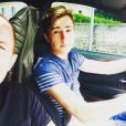 Pascal Soetens et son fils Loucas, en 2016 en voiture.