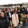 Naomi Campbell au défilé homme automne-hiver 2019-2020 Louis Vuitton par Virgil Abloh à Paris. Le 17 janvier 2019 © CVS-Veeren / Bestimage