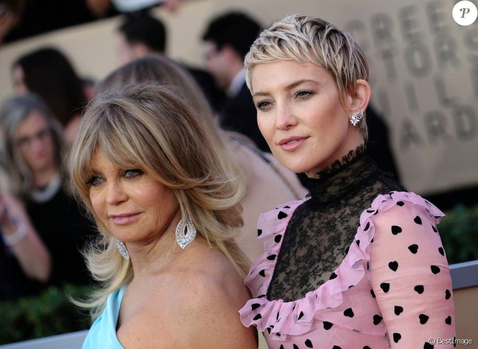 Goldie Hawn et sa fille Kate Hudson à la 24ème soirée annuelle des acteurs Guild awards à l'Auditorium Shrine à Los Angeles, le 21 janvier 2018 © Chris Delmas/Bestimage