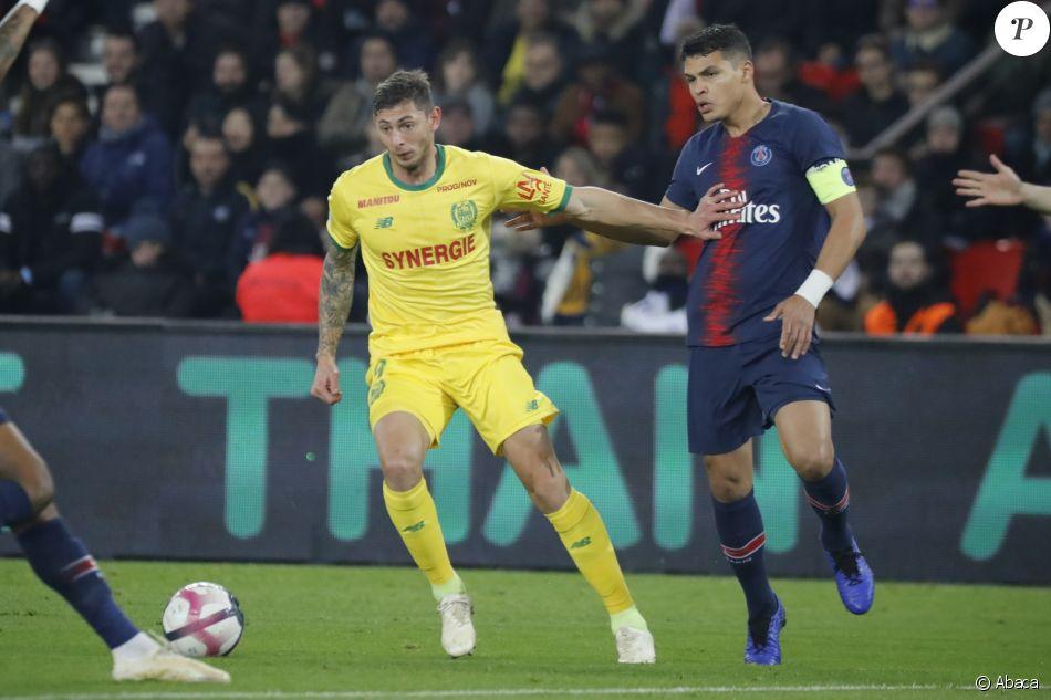 Emiliano Sala sous le maillot du FC Nantes contre le Paris Saint-Germain en Ligue 1 le 22 décembre 2018.