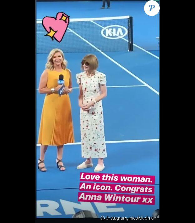Nicole Kidman rend hommage à Anna Wintour sur Instagram, le 24 janvier 2019.