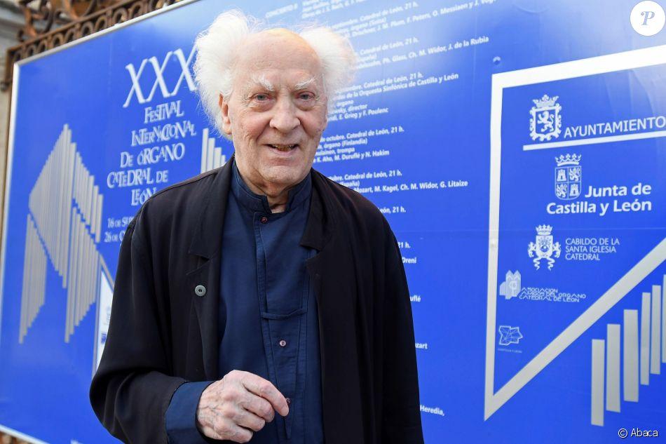 Jean Guillou à Leon en Espagne le 20 septembre 2018, à la veille d'un concert dans la cathédrale de Leon pour l'anniversaire de son orgue.