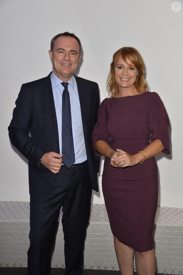 Christophe Delay et Adeline François- Conféfrence de presse de rentrée de BFM Tv à Paris le 8 septembre 2017 © Guirec Coadic/Bestimage