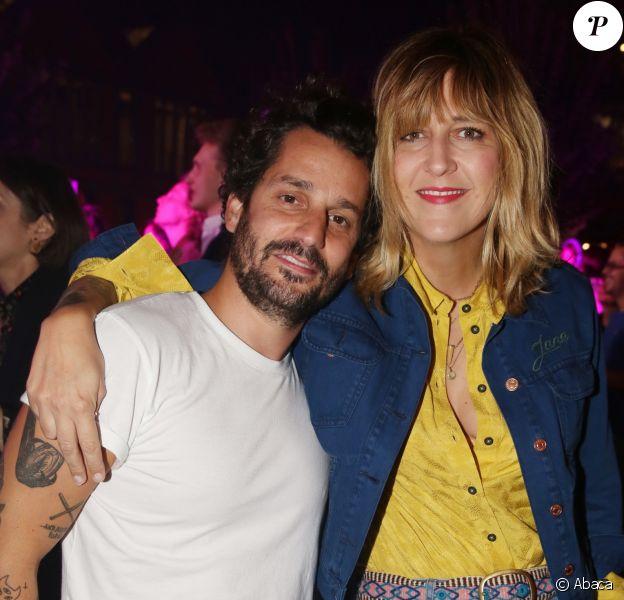 Sylvain Quimene et sa femme Daphné Bürki lors de la soirée d'ouverture de la Spritz Piazza édition 2018 à Paris, le 19 Septembre 2018.