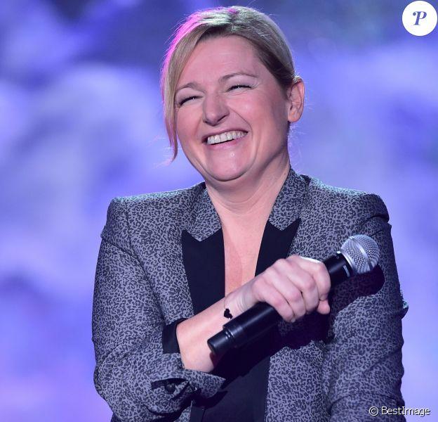 """Exclusif - Anne-Elisabeth Lemoine - Enregistrement de l'émission """"La Télé Chante Pour le Sidaction"""" aux théâtre des Folies Bergère à Paris. L'émission sera diffusée sur France 2 le 28 mars"""
