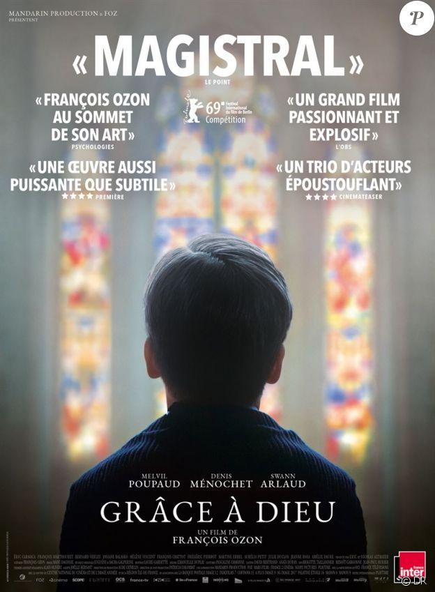 Affiche du film Grâce à dieu, dont la sortie en salles le 20 février 2019 est menacée