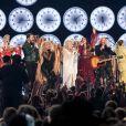 """Katy Perry, Little Big Town, Miley Cyrus et Kacey Musgraves et Dolly Parton interprètent """"9 to 5"""" en hommage à Dolly Parton - 61e édition des GRAMMY Awards à Los Angeles, le 10 février 2019."""