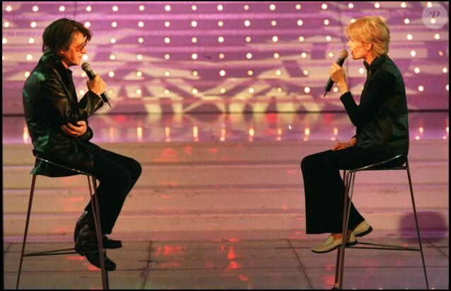 Jacques Dutronc et Françoise Hardy - Emission de Michel Drucker à Paris en 2000