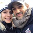 Jean-Pascal Lacoste et sa chérie Delphine Tellier à Urrugne en Aquitaine, le 11 février 2019.