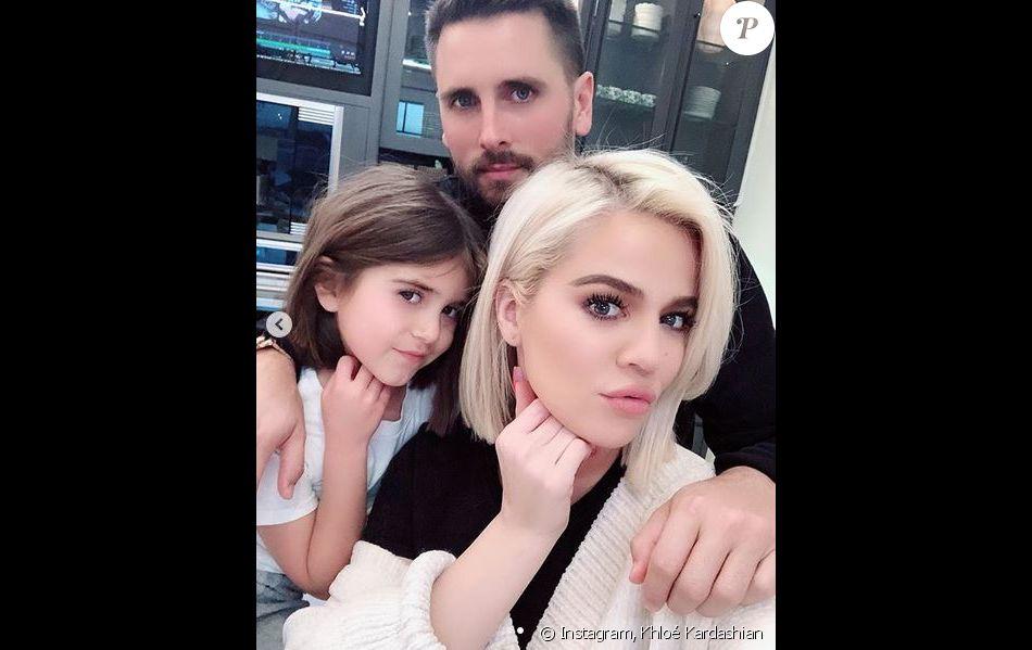 Penelope Disick, son père Scott Disick et sa tante Khloé Kardashian. Février 2019.